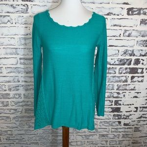 Anthropologie Sparrow Teal Swing Sweater Top